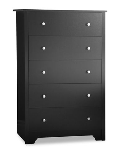 South Shore Vito Five-Drawer Chest-PURE BLACK-One Size