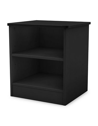 South Shore Libra Nightstand with Storage-PURE BLACK-One Size
