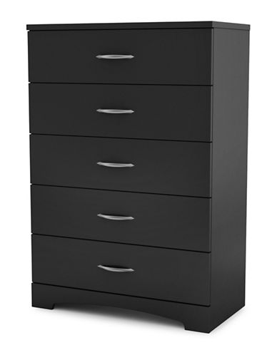 South Shore Step One Five-Drawer Chest-PURE BLACK-One Size