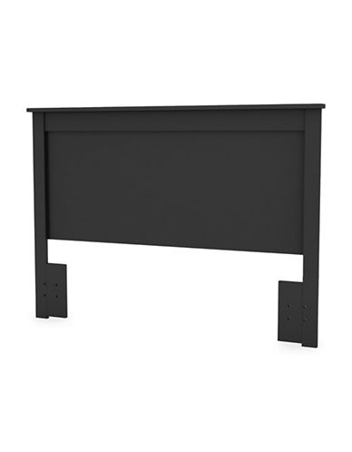 South Shore Vito Full/Queen Headboard-PURE BLACK-Double/Queen