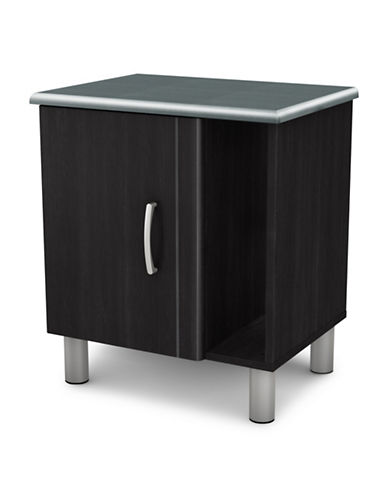 South Shore Cosmos Nightstand with Storage-BLACK ONYX-One Size