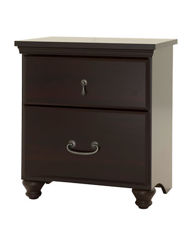South Shore Noble Two-Drawer Nightstand-DARK MAHOGANY-One Size