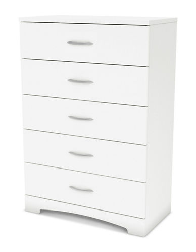South Shore Step One Five-Drawer Chest-PURE WHITE-One Size