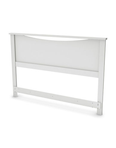 South Shore Step One Headboard-PURE WHITE-Double/Queen