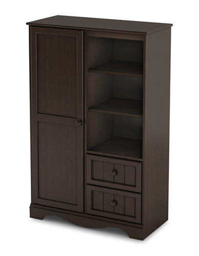 South Shore Savannah Two-Drawer Door Chest-CHOCOLATE-One Size