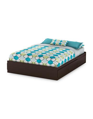 South Shore Vito Queen Mates Bed-CHOCOLATE-Queen