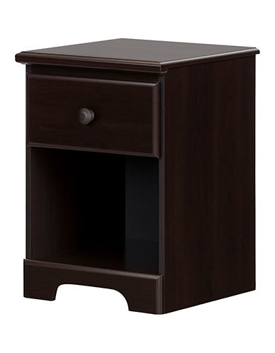 South Shore Summer Breeze One-Drawer Nightstand-CHOCOLATE-One Size