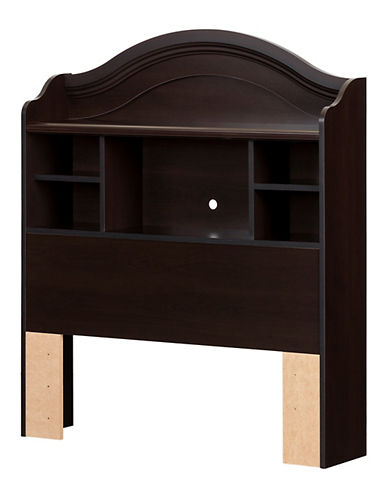 South Shore Summer Breeze Twin Bookcase Headboard-CHOCOLATE-Twin