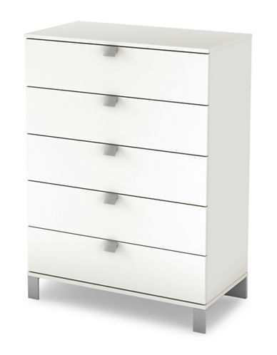South Shore Spark Five-Drawer Chest-PURE WHITE-One Size