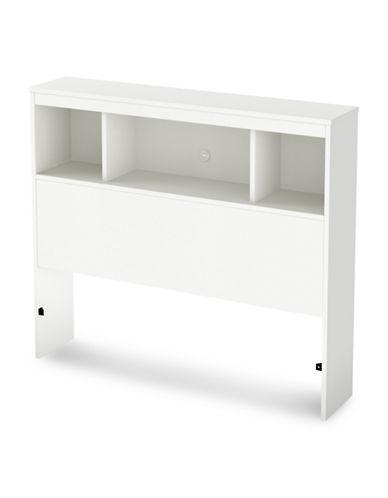 South Shore Spark Twin Bookcase Headboard-PURE WHITE-Twin