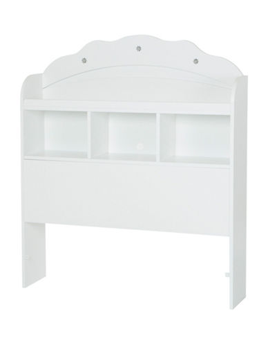 South Shore Tiara Twin Bookcase Headboard-PURE WHITE-Twin
