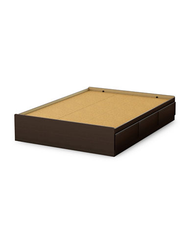 South Shore Step One Full Mates Bed with Three Drawers-CHOCOLATE-Full