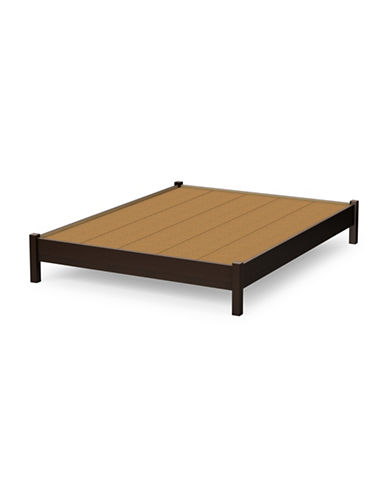 South Shore Step One Queen Platform Bed-CHOCOLATE-Queen