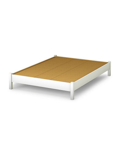 South Shore Step One Full Platform Bed-PURE WHITE-Full