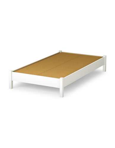 South Shore Step One Twin Platform Bed-PURE WHITE-Twin