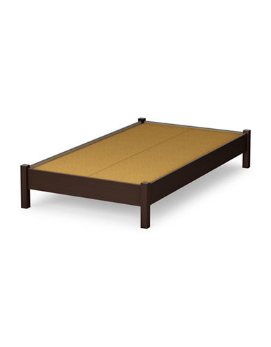 South Shore Step One Twin Platform Bed-CHOCOLATE-Twin