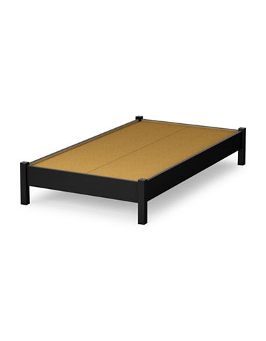 South Shore Step One Twin Platform Bed-PURE BLACK-Twin