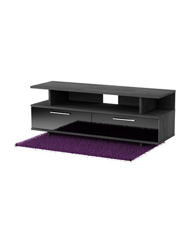 South Shore Reflekt TV Stand with Drawers-BLACK/GREY-One Size