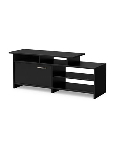 South Shore Step One TV Stand-PURE BLACK-One Size