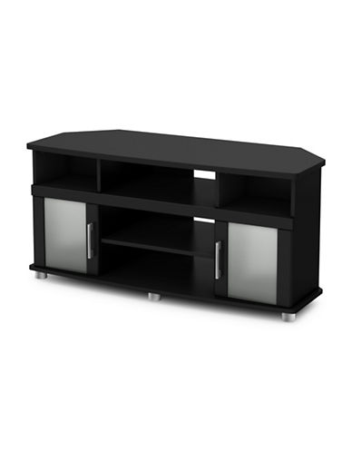 South Shore City Life Corner TV Stand-PURE BLACK-One Size