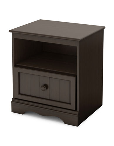 South Shore Savannah One-Drawer Nightstand-CHOCOLATE-One Size
