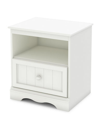 South Shore Savannah One-Drawer Nightstand-PURE WHITE-One Size