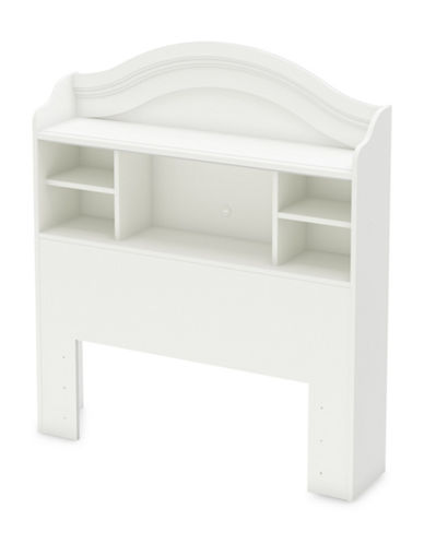 South Shore Savannah Twin Bookcase Headboard-PURE WHITE-One Size