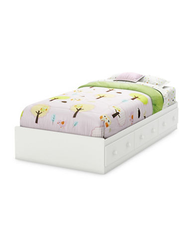 South Shore Savannah Twin Mates Bed with Three Drawers-WHITE-One Size