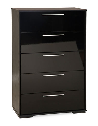 South Shore Mikka Five-Drawer Chest-BLACK OAK-One Size