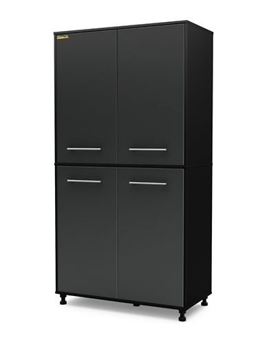 South Shore Karbon Storage Cabinet-PURE BLACK-One Size