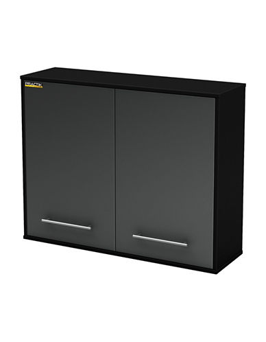 South Shore Karbon Wall Storage Cabinet-PURE BLACK-One Size