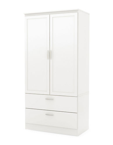 South Shore Acapella Wardrobe Armoire-PURE WHITE-One Size