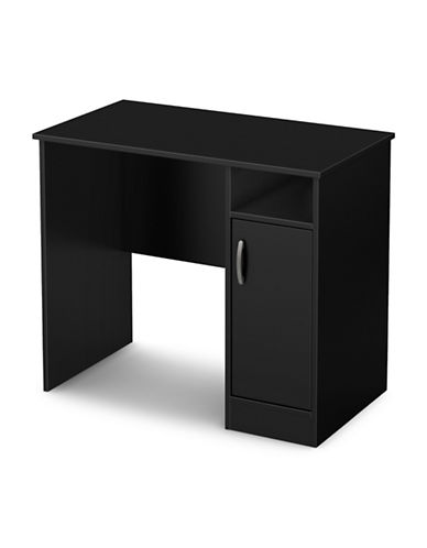 South Shore Axess Small Desk-PURE BLACK-One Size