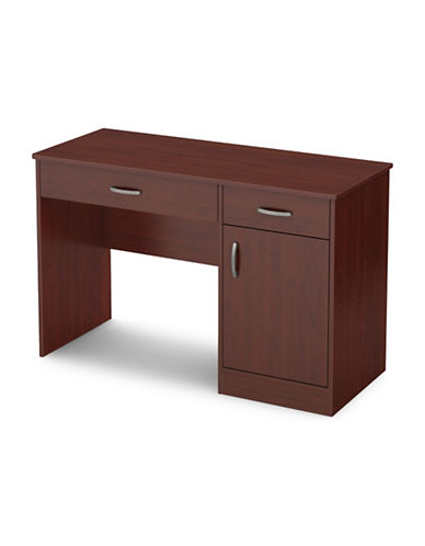 South Shore Axess Small Desk with Drawers-ROYAL CHERRY-One Size