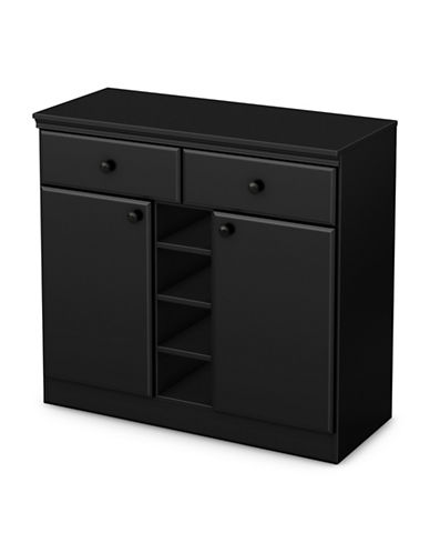 South Shore Morgan Sideboard-PURE BLACK-One Size