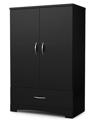 South Shore Step One Armoire-PURE BLACK-One Size