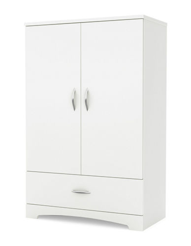 South Shore Step One Armoire-PURE WHITE-One Size