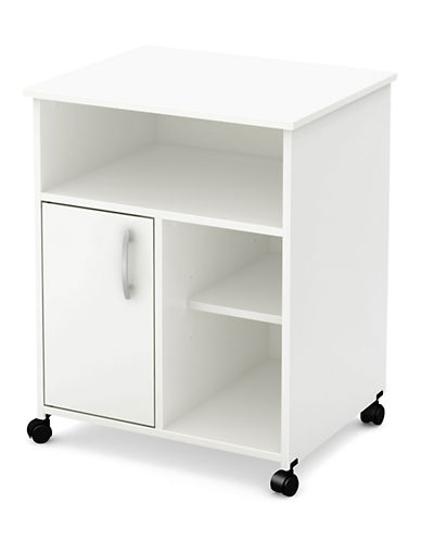 South Shore Axess One-Door Printer Cart-PURE WHITE-One Size