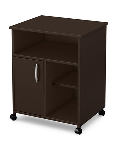 South Shore Axess One-Door Printer Cart-CHOCOLATE-One Size