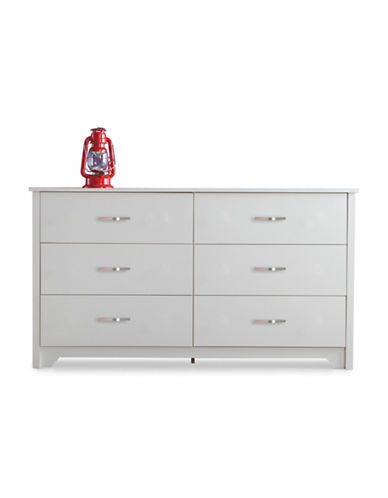 South Shore Fusion Six-Drawer Double Dresser-PURE WHITE-One Size
