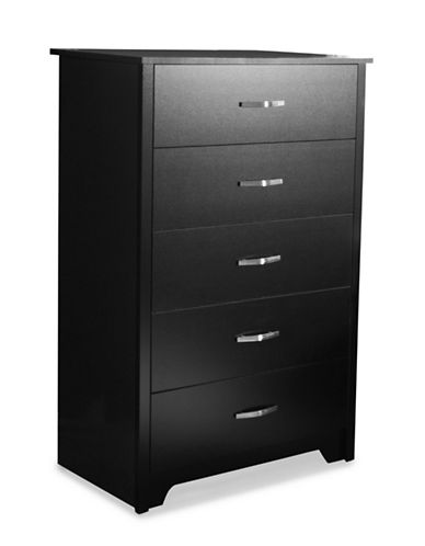South Shore Fusion Five-Drawer Chest-PURE BLACK-One Size