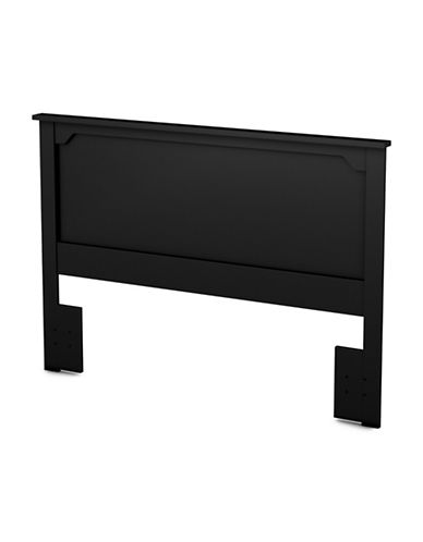 South Shore Fusion Full-Queen Headboard-PURE BLACK-Double/Queen