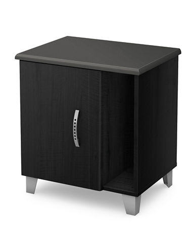 South Shore Lazer Nightstand with Storage-BLACK ONYX-One Size