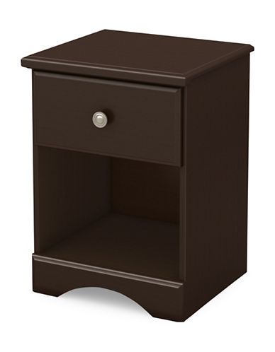 South Shore Morning Dew One-Drawer Nightstand-CHOCOLATE-One Size