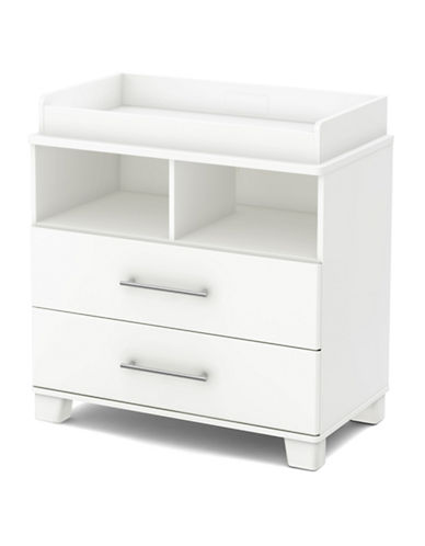 South Shore Cuddly Changing Table and Removable Changing Station-PURE WHITE-One Size