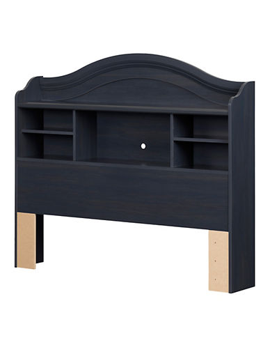 South Shore Summer Breeze Full Bookcase Headboard-BLUEBERRY-Full