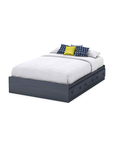 South Shore Summer Breeze Full Mates Bed with Three Drawers-BLUEBERRY-Full