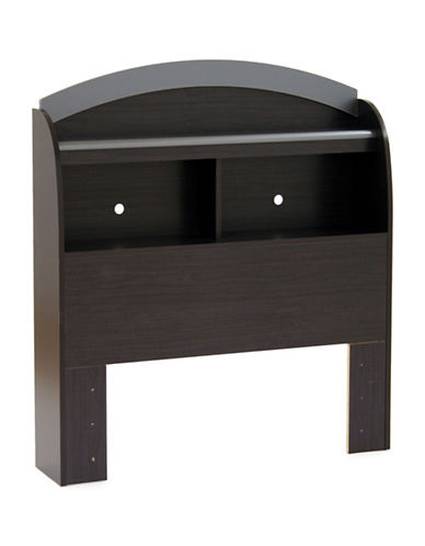 South Shore Lazer Twin Bookcase Headboard-BLACK ONYX-Twin