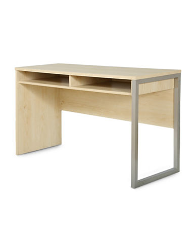 South Shore Interface Desk with Storage-NATURAL MAPLE-One Size