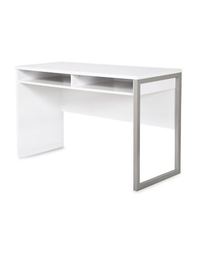 South Shore Interface Desk with Storage-PURE WHITE-One Size